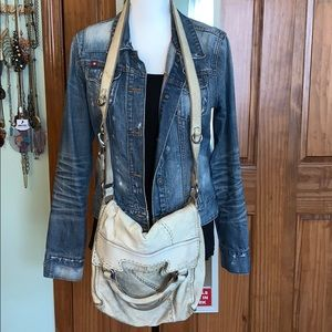 Vintage LUCKY BRAND leather cross body bag